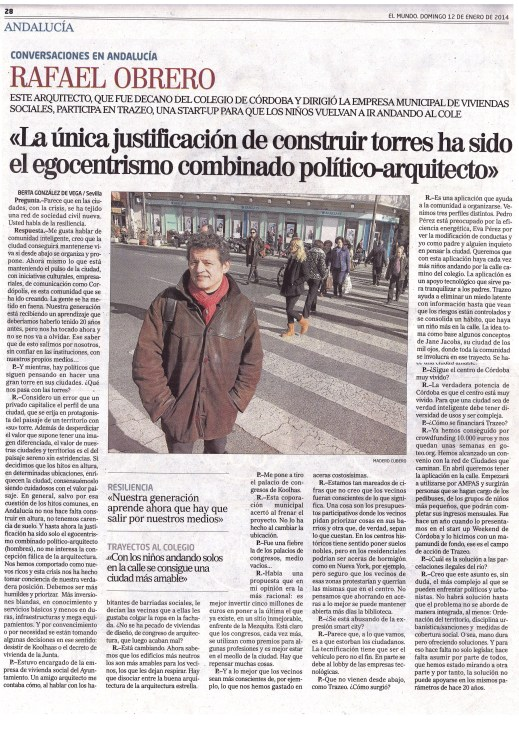 2014 1 12 Entrevista El Mundo Rafa Obrero