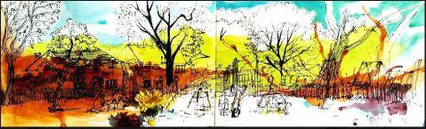 Dibujo de Adelina Pintea, Mánchester