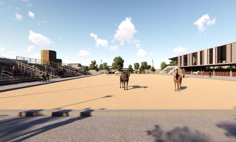 Pista de equitación en nodo educativo